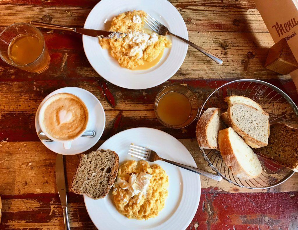 Zdravá snídaně vajíčka