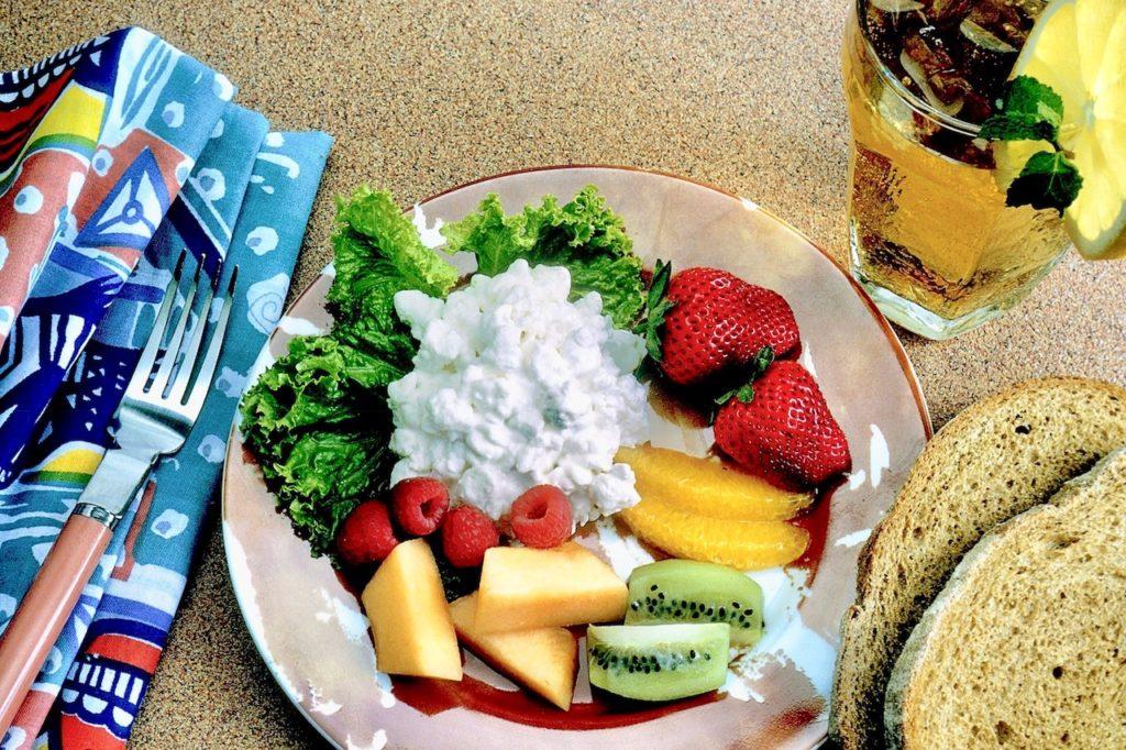Zdravá snídaně sýr cottage