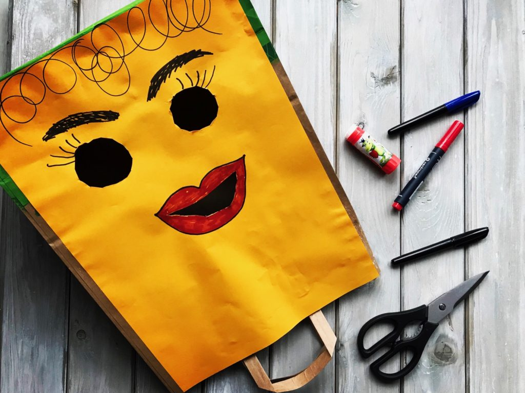 Staré tašky maska