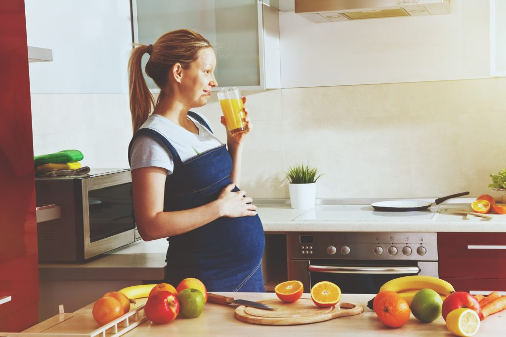 Tehotna zena vyziva strava